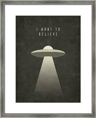 X-files I Want To Believe Framed Print by Ivan Krpan