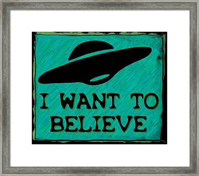 X Files I Want To Believe Framed Print by Kyle J West