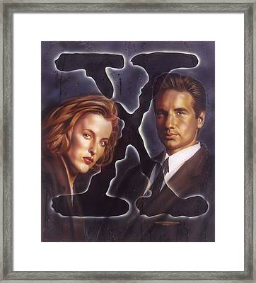 X-files Framed Print by Timothy Scoggins