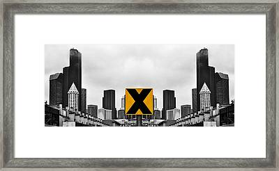 X Marks The Middle Framed Print by Pelo Blanco Photo