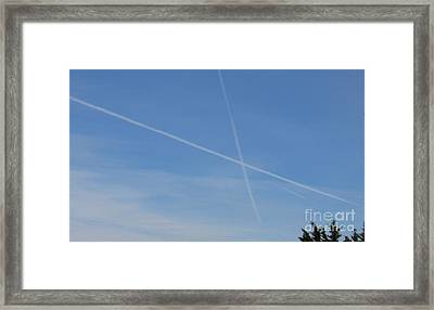 X Marks The Plot Framed Print by Joshua Bales