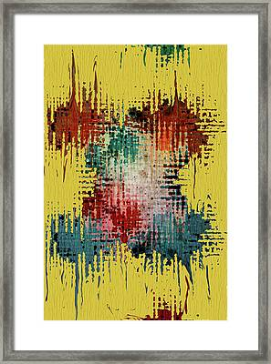 X Marks The Spot Framed Print by Bonnie Bruno