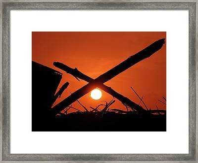 X Marks The Spot Framed Print by Graham Taylor