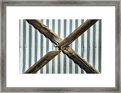 Framed Print featuring the photograph X Marks The Spot by Karol Livote