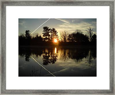 X Marks The Spot Sunrise Reflection Framed Print