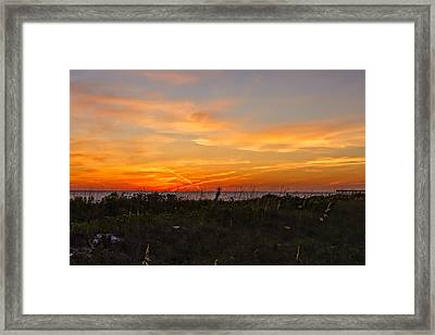 X Marks The Spot Sunset At The Pier  -  Xmkpier96 Framed Print