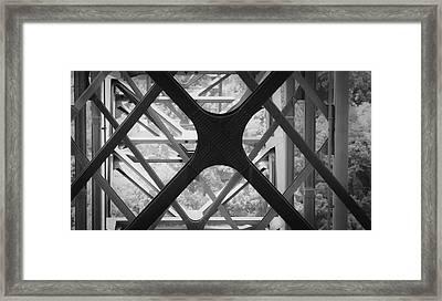 X Marks The Spot Framed Print by Teresa Mucha