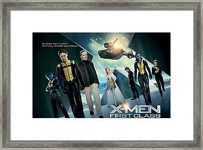 X Men First Class 2011 Movie Framed Print