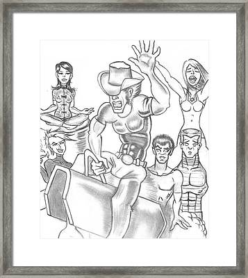 X-men Framed Print by Terrence Stone