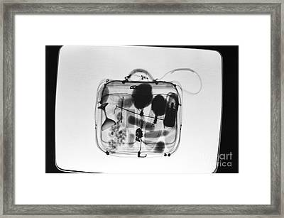 X-ray Of Suitcase Framed Print