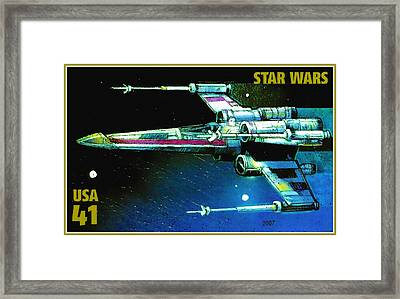 X-wing Starfighter Framed Print by Lanjee Chee