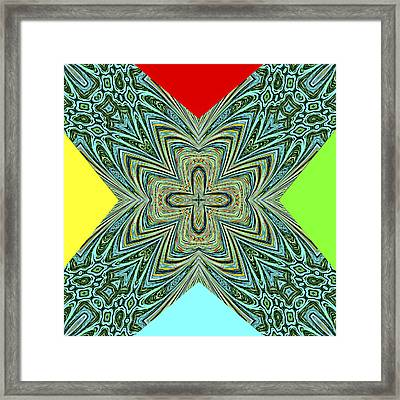 X With Colors Framed Print by Susan Leggett