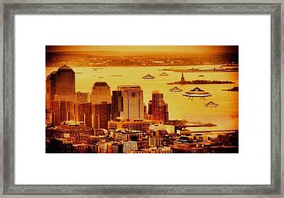 X4 Ufo Framed Print by Raphael Terra