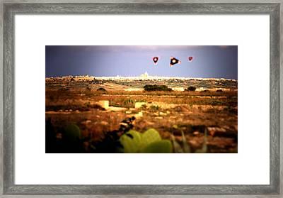 X5 Ufo Framed Print by Raphael Terra