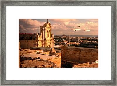X6 Ufo Framed Print by Raphael Terra