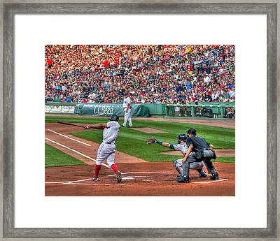 Xander Bogaerts - Boston Red Sox Framed Print by Joann Vitali