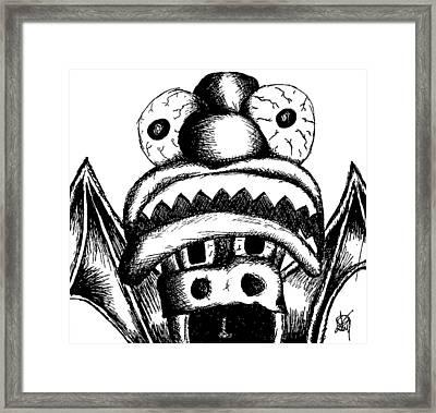 Xavier's Clown Hat Framed Print