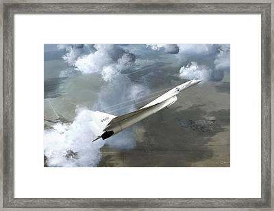 Xb-70 Test Flight Framed Print by Peter Chilelli
