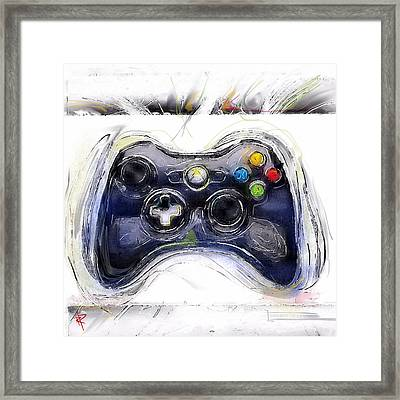 Xbox Thrills Framed Print by Russell Pierce