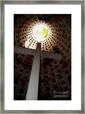 Xcaret Cemetery Catacomb Framed Print by Angela Murray