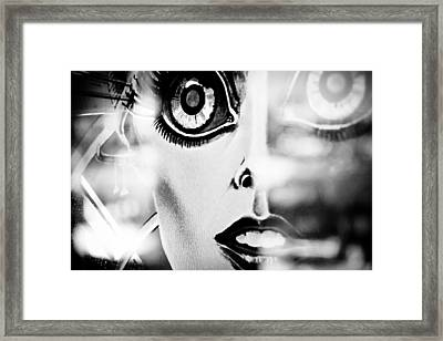 Xenon - Black And White Framed Print by Colleen Kammerer