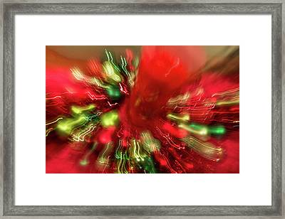 Framed Print featuring the photograph Xmas Burst 2 by Rebecca Cozart