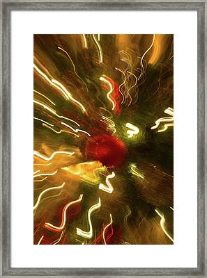 Framed Print featuring the photograph Xmas Burst 3 by Rebecca Cozart