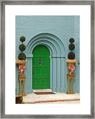 Xmas Door Framed Print
