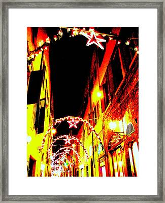 X'mas In Florence Framed Print