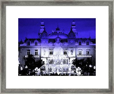 Xmas In Monaco Framed Print