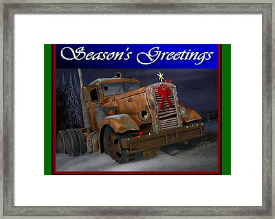 Xmas Pete Card Framed Print by Stuart Swartz