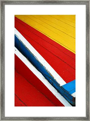 Xochimilco Boat Abstract 1 Framed Print by Skip Hunt