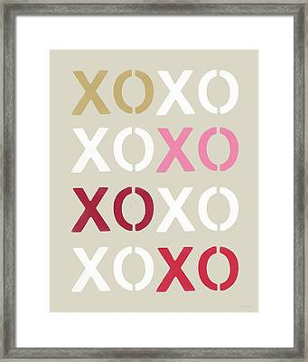 Xoxo- Art By Linda Woods Framed Print by Linda Woods