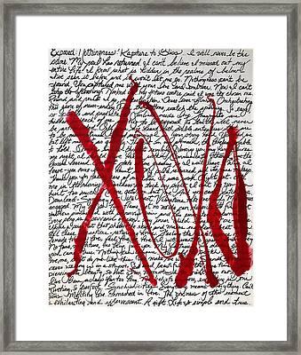Xoxo Framed Print by Jessica Leigh