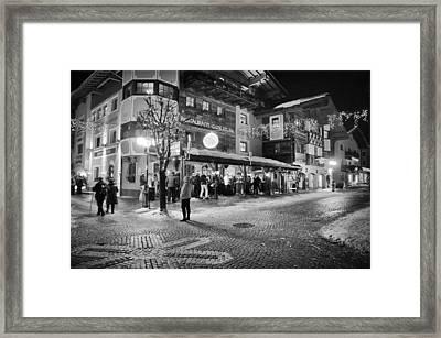 Xroads@hinterglemm Framed Print by Chris Boulton