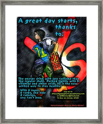 Xs Advertisement Framed Print by Katie Alfonsi