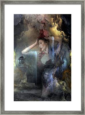 The Lighthouse Tower Stands Framed Print
