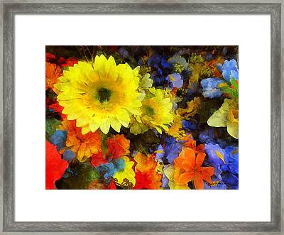 Xtreme Floral Seventeen Into The Depths Framed Print by Spyder Webb