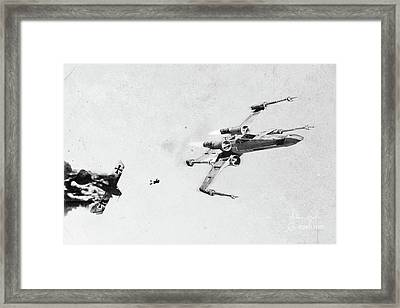 Xwing Framed Print by Andrea Gatti