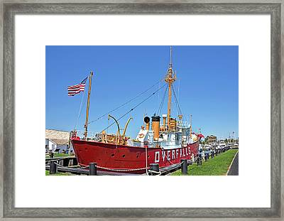 Framed Print featuring the photograph Lightship Overfalls Lewes Delaware by Brendan Reals