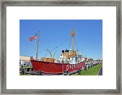 Lightship Overfalls Lewes Delaware Framed Print by Brendan Reals