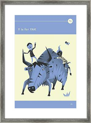 Y Is For Yak Framed Print