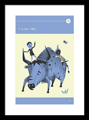 Yak Framed Prints