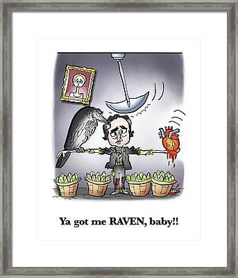 Ya Got Me Raven Framed Print by Mark Armstrong