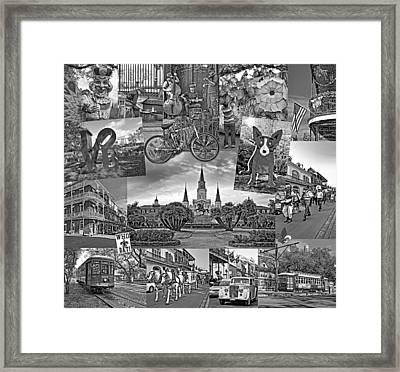 Ya Gotta Love New Orleans - Bw Framed Print