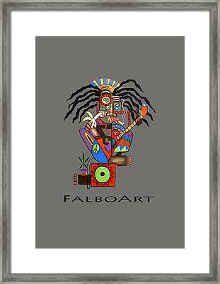 Ya Man 2 No Steel Drums Framed Print by Anthony Falbo