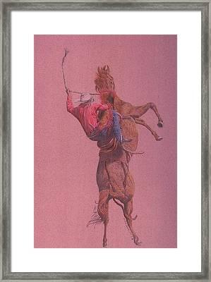 Yaa Hoooo Framed Print by Dan Hausel