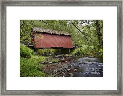 Yachats River Bridge Framed Print