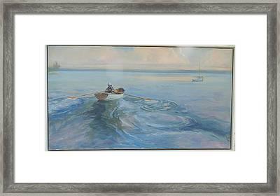 Yacht Ahoy Framed Print by Ron Wilson