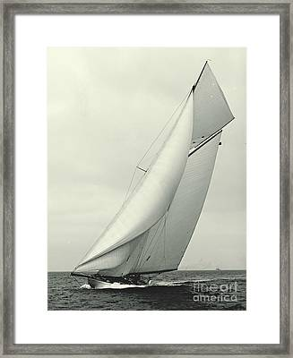 Yacht Columbia 1901 Framed Print by Padre Art